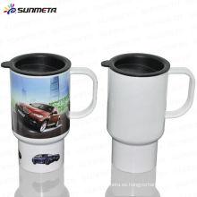 Sunmeta Nueva llegada de venta caliente de alta calidad Sublimación plástica taza de viaje de plástico con impresión de fotos