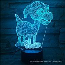 Geschenkideen Hund LED Nachtlichter 3D Illusion Lampe Tier Licht Led Schreibtisch Lampen Einzigartige Jahrestag Geschenke für Baby Home Dekoration