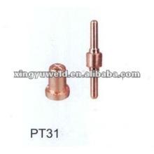 Buse de coupe plasma et électrode PT31