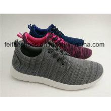 Chaussures unisexes de sport d'injection de toile, lacets décontractés avec adapté aux besoins du client