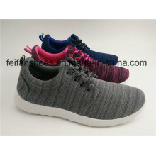 Unisex Canvas Injection Sport Shoes, Casual Lace-up with Customized