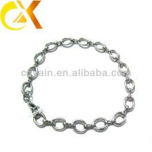 Bracelete de aço inoxidável jóias anel de design