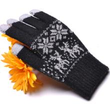 2015 Jacquard de Navidad diseño Magic Touch guante para iPhone, iPad (SNTG01-1)