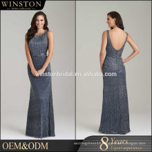 100% Real Photos Custom Made long train evening dress