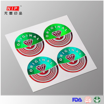 Hot Selling Tamper Evident Holographic Label Printing
