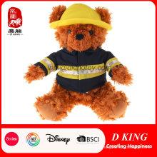 Best Made Soft Stuffed Animal Fireman Teddy Bear Plush Toy