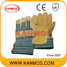 Свинья сплит кожаные рабочие рабочие перчатки безопасности (21007)