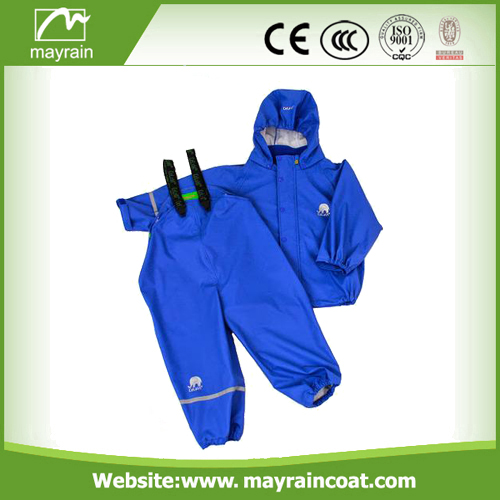 Reflective Polyester Kids Rainsuit
