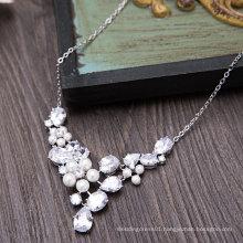 Aoliweiya Wedding Sliver Jewellery Necklace Earring