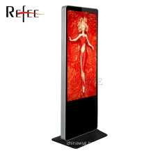 Refee 55 inch totem touch screen,shopping mall advertising touch screen kiosk,advertising machine