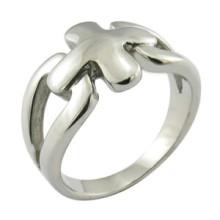 Anneau personnalisé en argent sterling 925 en argent sterling Christian Cross Ring