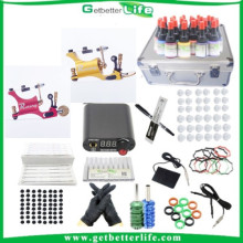 2015getbetterlife New Style 2 Tattoo Machine Guns Tattoo Kit 28 colors tattoo Ink