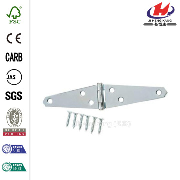 4 in. Zinc-Plated Heavy Duty Strap Hinge