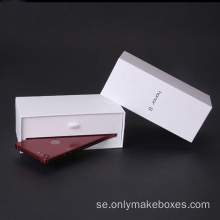 Ny design Vit kartong iPhone Skydd Box Packaging