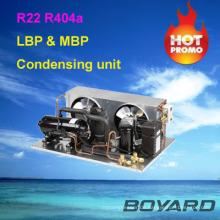 R22 r404a Kühlkompressor kleine Kälteanlagen Kondensator-Einheit für echte kommerzielle Kühlschränke Insel Vitrine