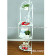 Toiletry storage rack, stainless steel mirror, chrome finished