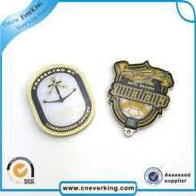 Presente dourado da promoção do emblema do botão do metal do presente da decoração