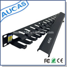 Aucas brand 1U cable management system for 19 inch server cabinet