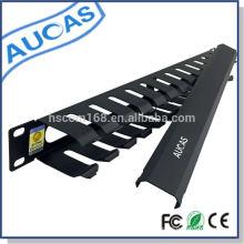 Aucas marca 1U sistema de gerenciamento de cabos para gabinete de servidor de 19 polegadas