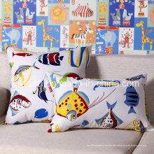 Mode Fisch gedruckt Pastoralen Stil gedruckt Baumwolle Canvas Kissen Großhandel
