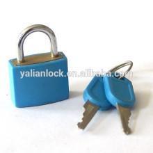 ABS Shell Cor azul Tampa plástica de segurança Brady Cilindro de latão Cilindro de ferro de cobertura de borracha