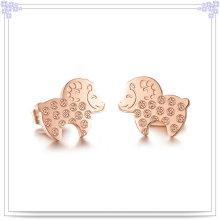 Acessórios de moda brinco de jóias de aço inoxidável (EE0069)