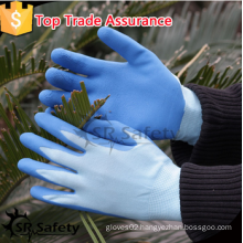 SRSAFETY high quality safety gloves/13g latex palm coated gloves/gardening gloves/made in China