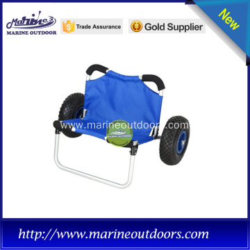 Folding beach kayak cart, Kayak sitting cart, Marine aluminum trolley