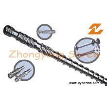 Componentes plásticos de la maquinaria del barril del tornillo de la extrusión del barril del tornillo del extrusor