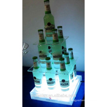 Customized Acrylic Wine Bottle Holder For Bar and KTV