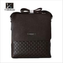 Custom-made Leather Men Handbags Tricô Padrão De Couro Bolsa De Negócios
