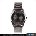 dark silver metal strap quartz watch face, best selling watches men