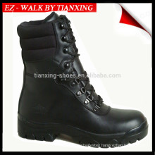 Military boots with genuine leather and rubber outsole