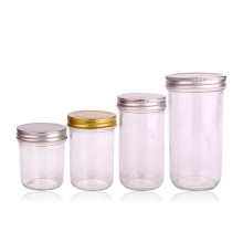New arrival 750ml500ml 380ml 220ml Glass Honey jar Container with Metal Lid