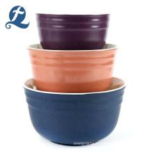Новый стиль цвета на заказ дома матовые дешевые круглый керамический салатник