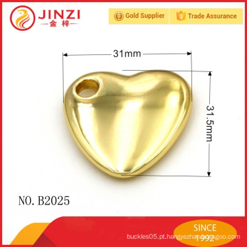Refrigere a decoração da forma do coração com a liga do zinco da alta qualidade, acessórios da bolsa.