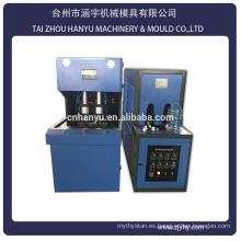 2 cavidad semi automático de plástico de mascotas botella de la máquina precio / 5 galones soplado máquina de moldeo