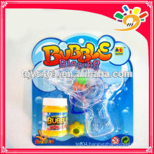Funny Friction Bubble Gun Toy,Transparent Bubble Gun ,Flashing Bubble Gun For Kids With Bubble Water