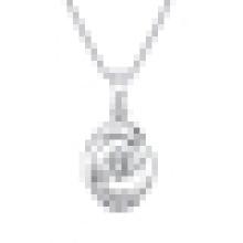 Ladies Temperament Elegant Design Sterling Silver Pendant Necklace