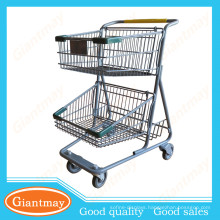 new generation unfolding 2 baskets express shopping trolley