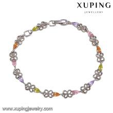 74351 moda elegante Rhodium CZ diamante imitação jóias pulseira para mulheres
