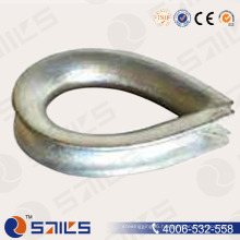 Hardware Carbon Steel Galvanized Bs464 Wire Rope Thimble