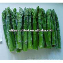 Congelado, verde, espargos, inteiro