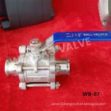 "304 Clamp Ball Valve 1-1/2"" China Manufacturer"