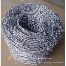 Fil barbelé galvanisé / fil de clôture galvanisé / fil de clôture de l'usine