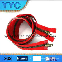 No. 8 Plated Bronze Europen Style Plastic Zipper Two Way Open Zipper