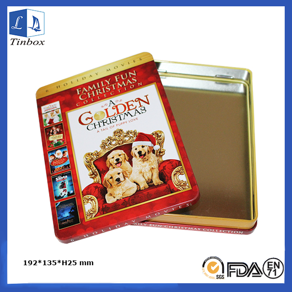 Rectangular Small CD Storage Tin Box