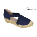 Women′s Canvas Espadrille Wedge Shoes