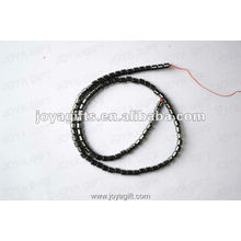 3MM Loose Magnetic Hematite Drum Beads 16""