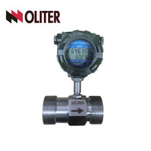 stainless steel SS316 SS304 peak oil liquid turbine water flow meter with 4-20ma output